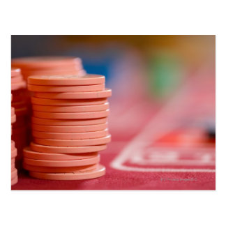 Chips on betting table 2 postcard