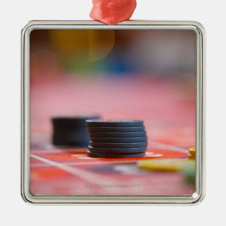 Chips on betting table 3 metal ornament