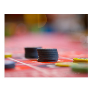Chips on betting table 3 postcard