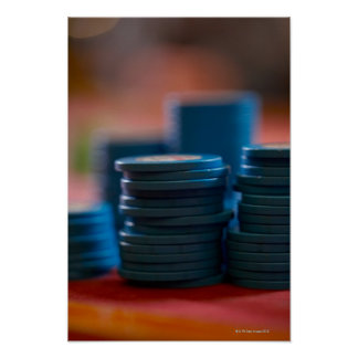 Chips on betting table 3 poster