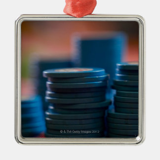 Chips on betting table metal ornament