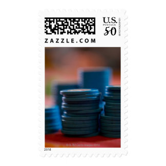 Chips on betting table postage