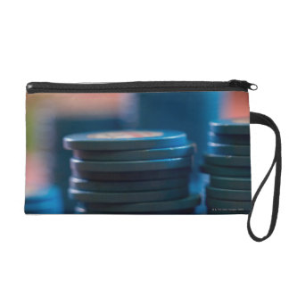 Chips on betting table wristlet purse