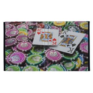 Chips poker iPad folio cover