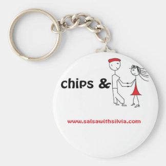 Chips & Salsa Basic Round Button Keychain