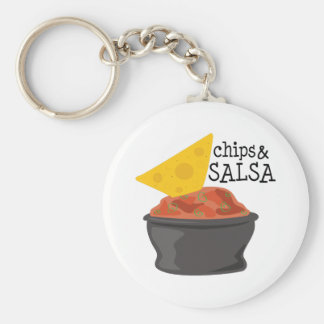 Chips & Salsa Keychain