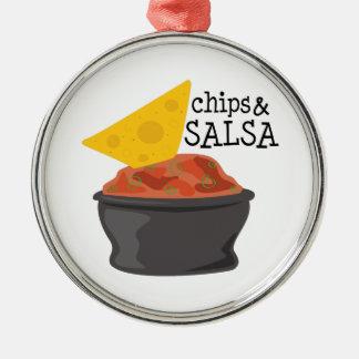 Chips & Salsa Metal Ornament