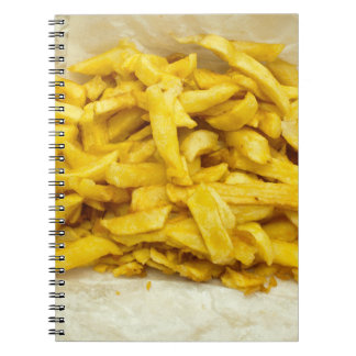 Chips Served in Paper Notebook