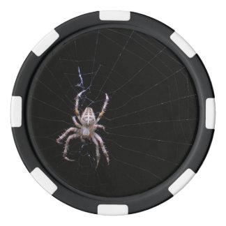Chipset cruzado del póker del ~ de la araña fichas de póquer