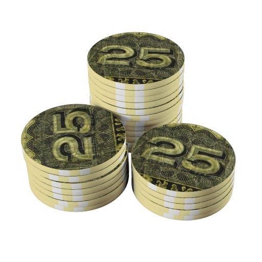Chipset del póker del ~ de Shinplaster 25 Juego De Fichas De Póquer