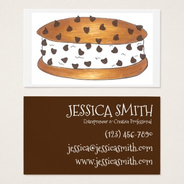 Professional Business Chipwich Chocolate Chip Cookie Ice Cream Sandwich Business Card