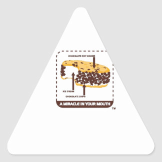Chipwich Ice Cream - It's A Miracle In Mouth Triangle Stickers