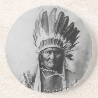 Chiricahua apache Geronimo Goyathlay Goyahkla Posavasos Diseño