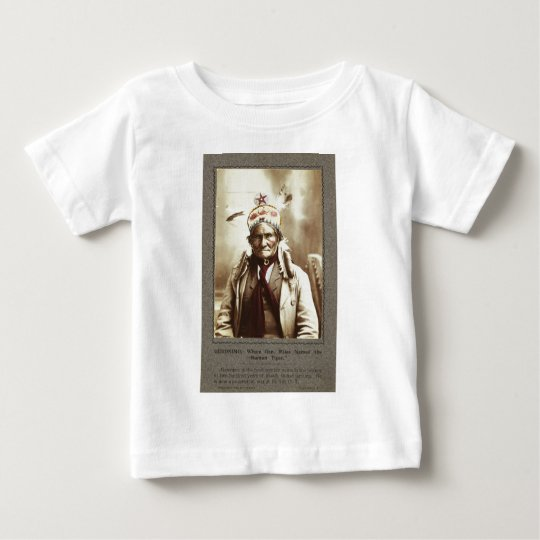 Chiricahua Apache Indian Leader Geronimo Portrait Baby T-Shirt