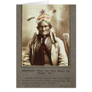 Chiricahua Apache Indian Leader Geronimo Portrait Card