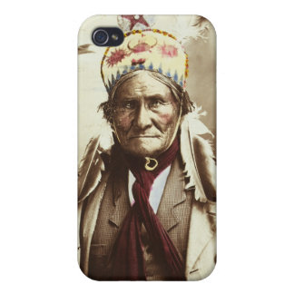 Chiricahua Apache Indian Leader Geronimo Portrait Case For iPhone 4
