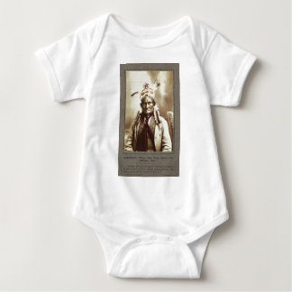 Chiricahua Apache Indian Leader Geronimo Portrait Infant Creeper