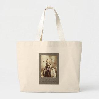 Chiricahua Apache Indian Leader Geronimo Portrait Large Tote Bag