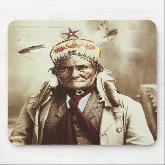 Chiricahua Apache Indian Leader Geronimo Portrait Mouse Pad