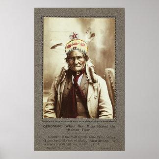 Chiricahua Apache Indian Leader Geronimo Portrait Print
