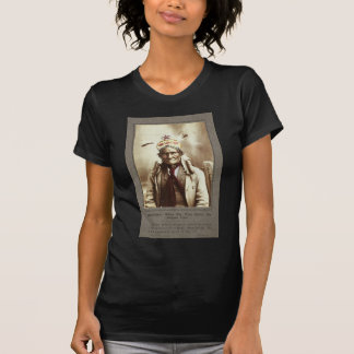 Chiricahua Apache Indian Leader Geronimo Portrait T Shirt