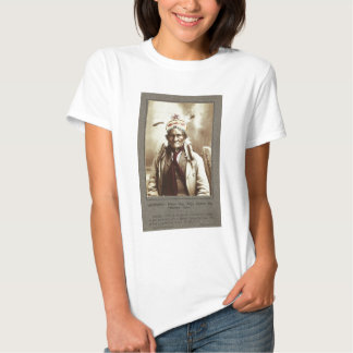 Chiricahua Apache Indian Leader Geronimo Portrait Tee Shirt