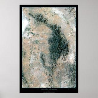Chiricahua National Monument AZ satellite poster