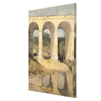 Chirk Aqueduct, 1806-7 (w/c on paper) Canvas Print