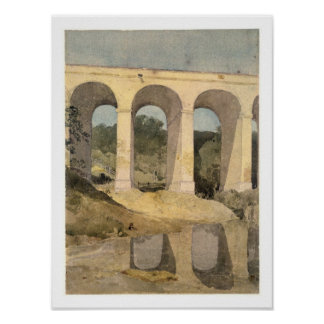 Chirk Aqueduct, 1806-7 (w/c on paper) Poster