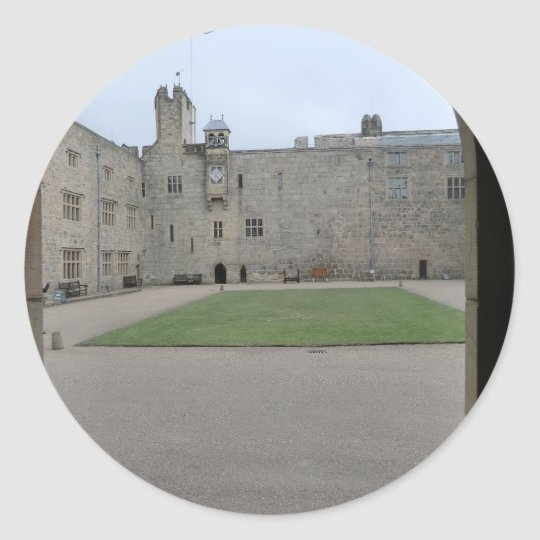 Chirk Castle Entrance Arch Classic Round Sticker