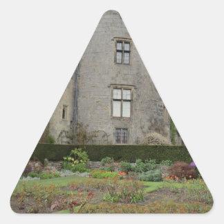 Chirk Castle in Wrexham, Wales Triangle Sticker