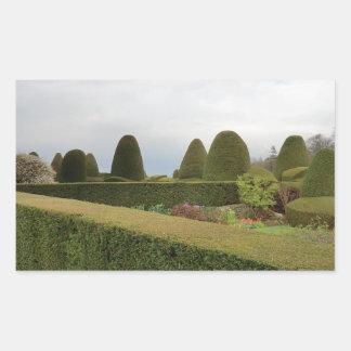 Chirk Castle Topiary Rectangular Sticker