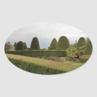 Chirk Castle Topiary Oval Sticker