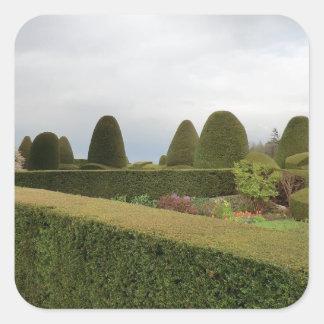 Chirk Castle Topiary Square Sticker