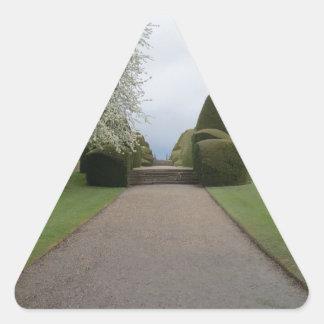 Chirk Castle Walkway Triangle Sticker