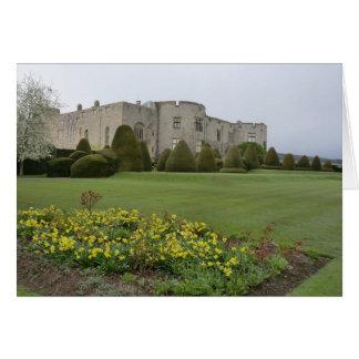 Chirk el castillo y los jardines tarjeta de felicitación