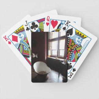 Chirk el cuarto de baño del castillo barajas de cartas