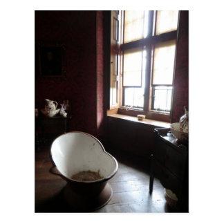 Chirk el cuarto de baño del castillo postales