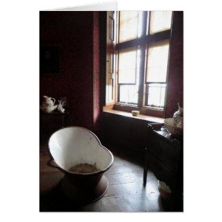 Chirk el cuarto de baño del castillo tarjeta de felicitación
