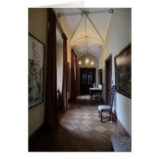 Chirk el pasillo del castillo tarjeta de felicitación