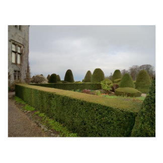 Chirk el Topiary del castillo Tarjeta Postal