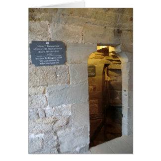 Chirk la entrada de la mazmorra del castillo tarjeta de felicitación