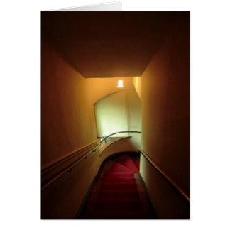 Chirk la escalera del castillo tarjeta de felicitación