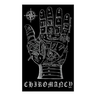 CHIROMANCER's CHART MIDDLE AGES Posters