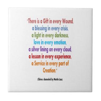 CHIRON Chennel: Las palabras de la sabiduría GUARD Azulejo Ceramica