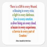 CHIRON Chennel: Las palabras de la sabiduría Calcomanía Cuadradas Personalizada