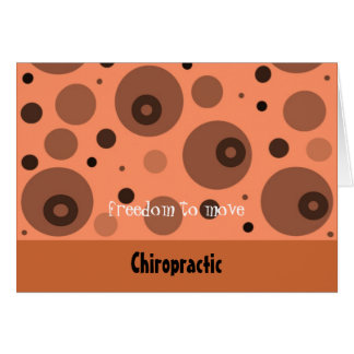 Chiropractic  Abstract Orange and Brown Card