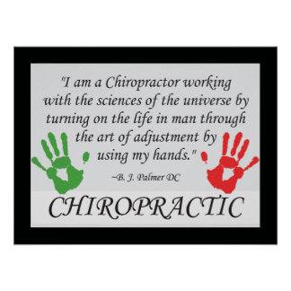 Chiropractic Adjustment by Hand Poster