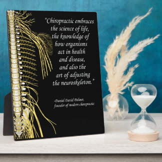 Chiropractic Adjustment Quote Easel Plaque