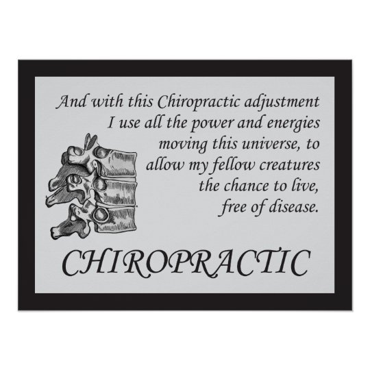 Chiropractic Adjustment Quotes Sayings Poster Zazzle